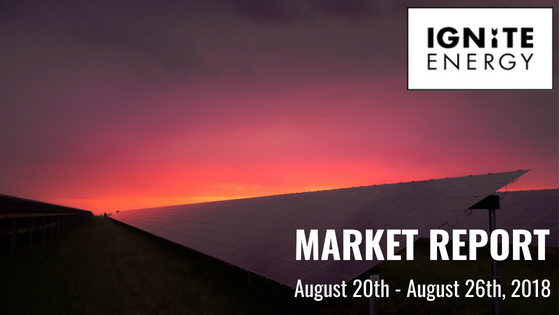 Ignite Energy Market Report 20th - 26th August