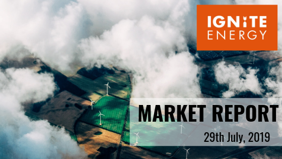 Ignite Energy Market report 29th July 2019