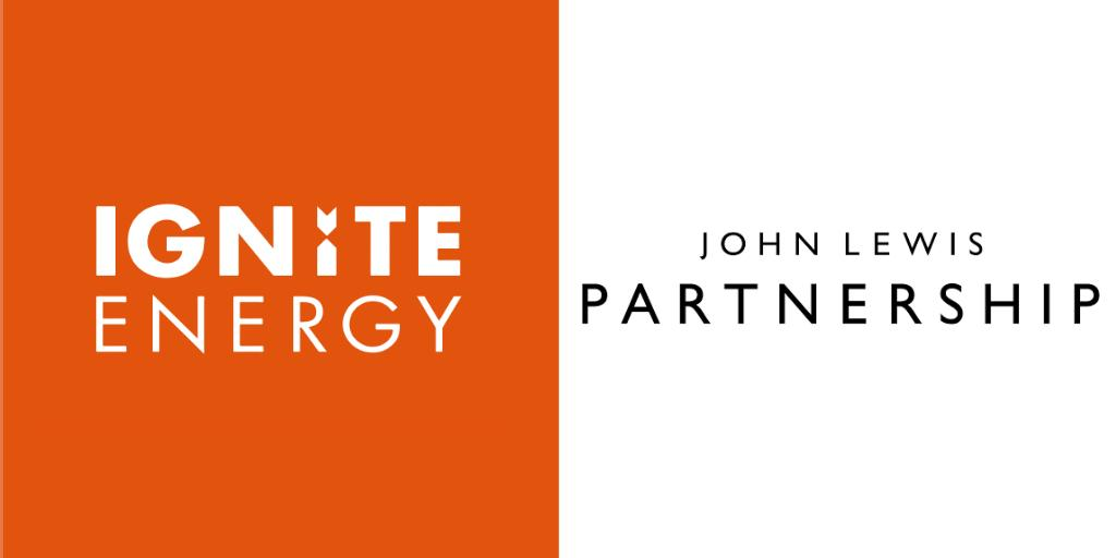 Ignite Energy and John Lewis Partnership logos