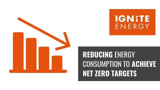 reducing energy consumption for carbon net zero success graphic